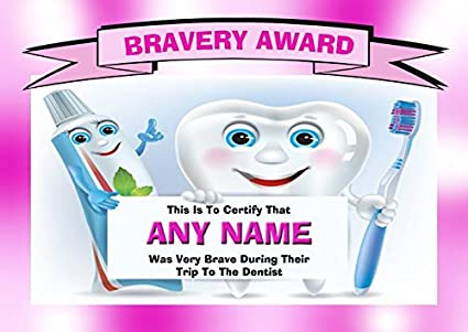 Amazon Personalized Dentist Visit Childrens Bravery Award