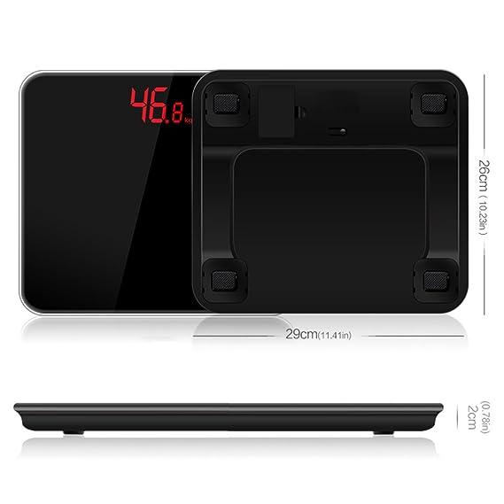 Escala De Grasa Corporal Bluetooth - Básculas De Baño Exacto Inteligente Peso Digital Electrónico Home Floor Balance De La Salud Del Cuerpo De Vidrio LED ...