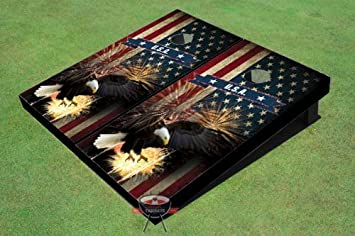 Amazon.com: American Bald Eagle Theme Corn Hole Boards Cornhole Game ...