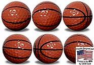 GBM Golf Basketball Golf Balls 6 Pack by