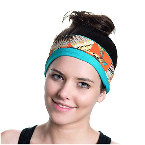 Workout Headband - Moisture Wicking - Non-Slip - Exercise Sweatband - Ideal for Sports, Fitness, Running, the Gym & Yoga - Designed for Versatility & the Active Women - By Red Dust Active