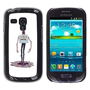 """For Samsung Galaxy S3 MINI ( NOT for regular S3 Case , Personaje de dibujos animados Manos flaco Hombre del cráneo"""" - Diseño Patrón Teléfono Caso Cubierta Case Bumper Duro Protección Case Cover Funda"""