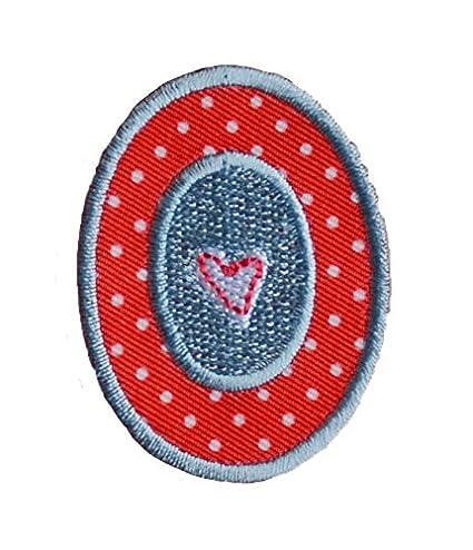A maiuscolo 5cm rojo blanco Habitación De Coser Coser Chico Bricolaje para reparar bandera bolsillo ropa chaqueta almohada bolsa roca banderín mochila techo ...