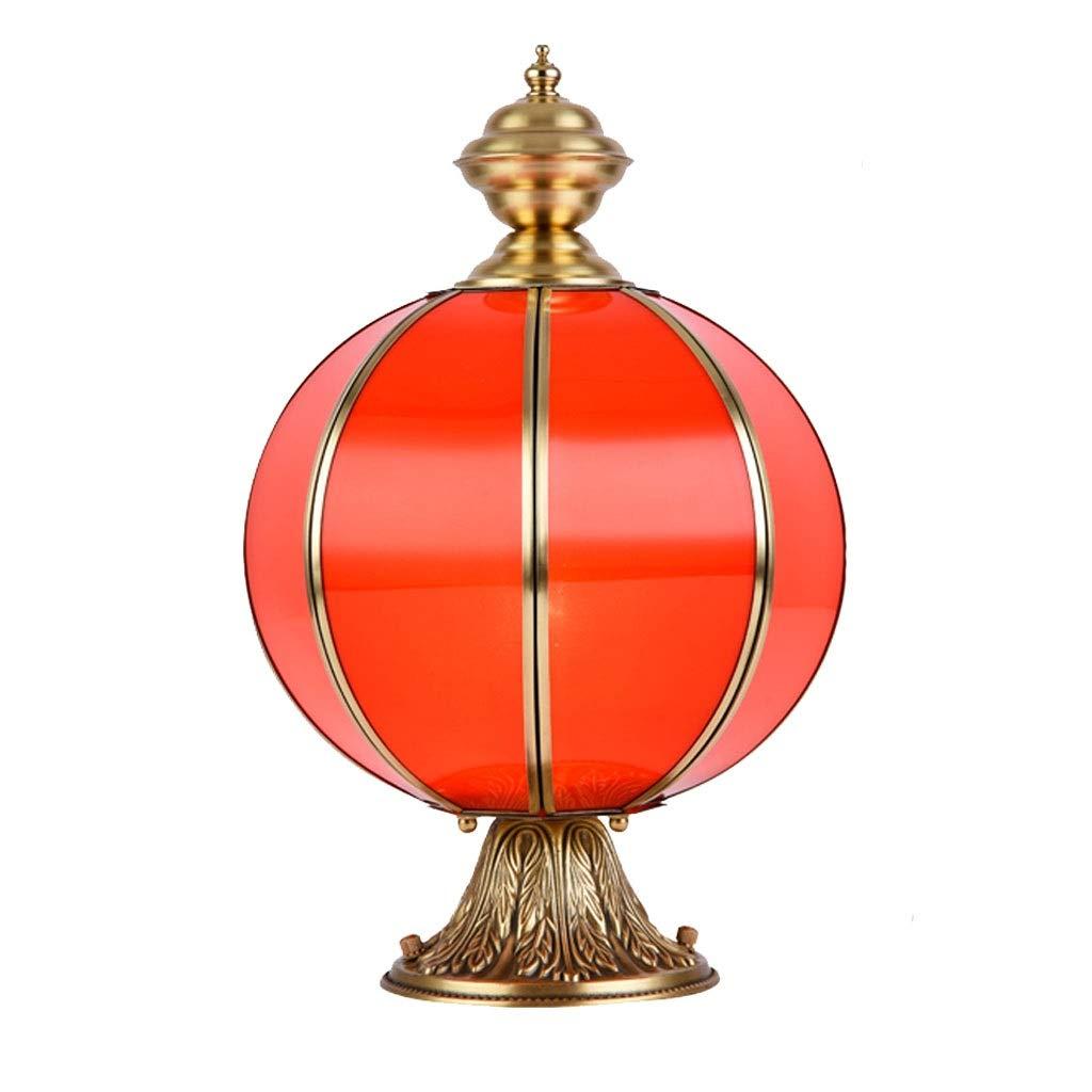 スポットライト コラムヘッドライト 中庭の装飾 中庭の風景の照明 提灯 銅の柱のヘッドライト 丸いボールのヘッドライト 外パティオの柱のライト (Color : Red, Size : 25*33cm) 25*33cm Red B07STVW3LQ