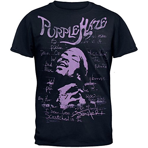 Jimi Hendrix - Purple Haze Soft T-Shirt Medium Blue