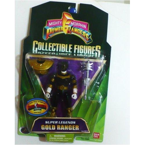 Gold Super Legends Mighty Morphin Power Ranger Collectible Zeo Action Figure (Legends Ranger Super)