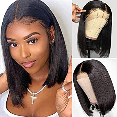 Tinashe Short Human Hair Wigs Bob Wig 13x4 Lace Front Human Hair Silk Straight Hair Wigs For Black Women 14 Inch Natural Color Buy Online At Best Price In Uae Amazon Ae