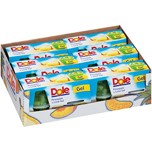 Dole Fruit Bowls Pineapple in Lime Gel 4 Count Fruit Bowls Pack of 6