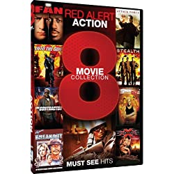 Red Alert Action - 8 Movie Collection - The Fan - Attack Force - Into The Sun - Stealth - The Contractor - Simon Sez - Breakout - XXX: State of the Union