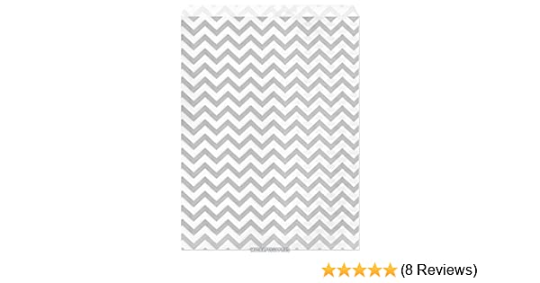 My Craft Supplies 8 1//2 X 11 Inch Silver Gray Chevron Paper Bags Set of 100
