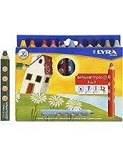 Groove Triple1 kleurpotloden, 10 mm, L. 12 cm, verschillende kleuren, 12 stuks