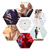 Yosoo Wedding Ring Pillow, White Ring Pillow for