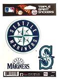 Seattle Mariners Triple Sticker Multi Decal Spirit Sheet Auto Home Baseball