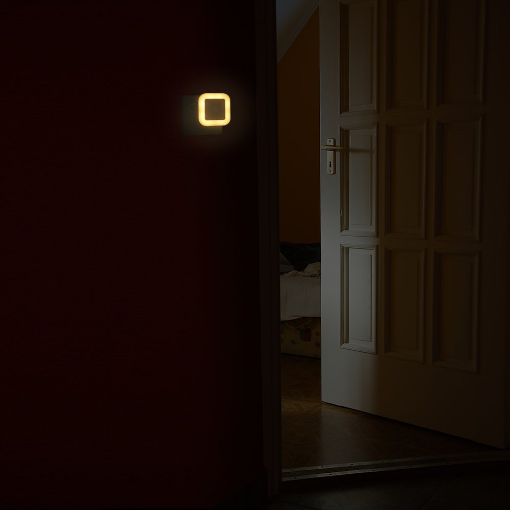 Capteur de Mouvement PIR,Capteur de Lumi/ère,3 Modes,efficacit/é /énerg/étique pour Chambre,Salle de bain,Cuisine LED Veilleuse avec Prise【Lumi/ère Chaude】KWOKWEI Lampe de Nuit avec D/étecteur de Mouvement