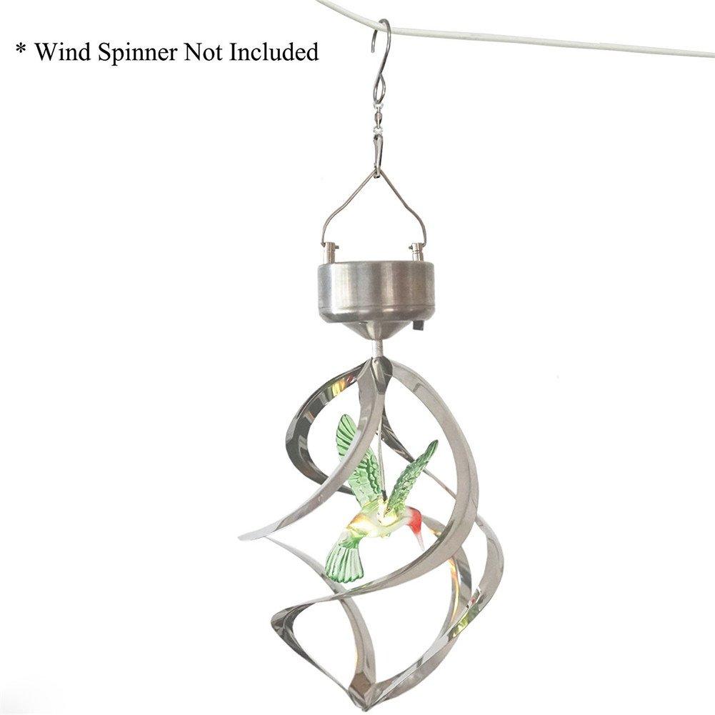 Crochets tournants de rotation de crochets de crochets pour carillons de vent changeants de couleur solaire de LED