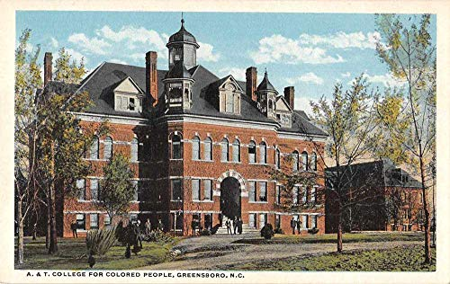 Greensboro North Carolina A and T College for Colored People Postcard JH230128