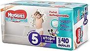 Huggies All Around Pañal Desechable para Bebé, Etapa 5 Unisex, Paquete con 40 piezas, Ideal para bebés de 11 a