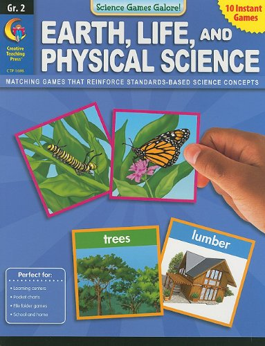 Earth, Life, and Physical Science, Grade 2 (Science Games Galore!)