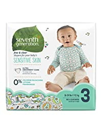 Seventh Generation Baby Diapers, Free and Clear for Sensitive Skin, with Animal Prints, Size 3, 155 Count (Packaging May Vary) BOBEBE Online Baby Store From New York to Miami and Los Angeles