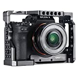 UURig C-A73 A7 III Camera Cage for Sony A7 Series A7R III/A7 III, Top Cold Shoe Microphone Light Mount/Arri Hole Extension, Stable Vlogging Video, Arca Swiss Quick Release Plate