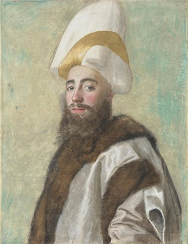 Perfect effect canvas ,the Best Price Art Decorative Prints on Canvas of oil painting 'Jean Etienne Liotard Portrait of a Grand Vizir ', 12 x 16 inch / 30 x 40 cm is best for Home Theater gallery art and Home gallery art and Gifts (Portrait Portrait 6' Apron)