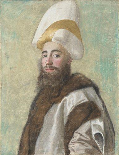 The Perfect Effectキャンバスの油絵` Jean Etienne Liotard Portrait Of A Grand Vizir」、サイズ: 24X 31インチ/ 61x 79cm、このVividアート装飾プリントキャンバスは、フィットの保育園装飾、ホームギャラリーアートとギフトの商品画像