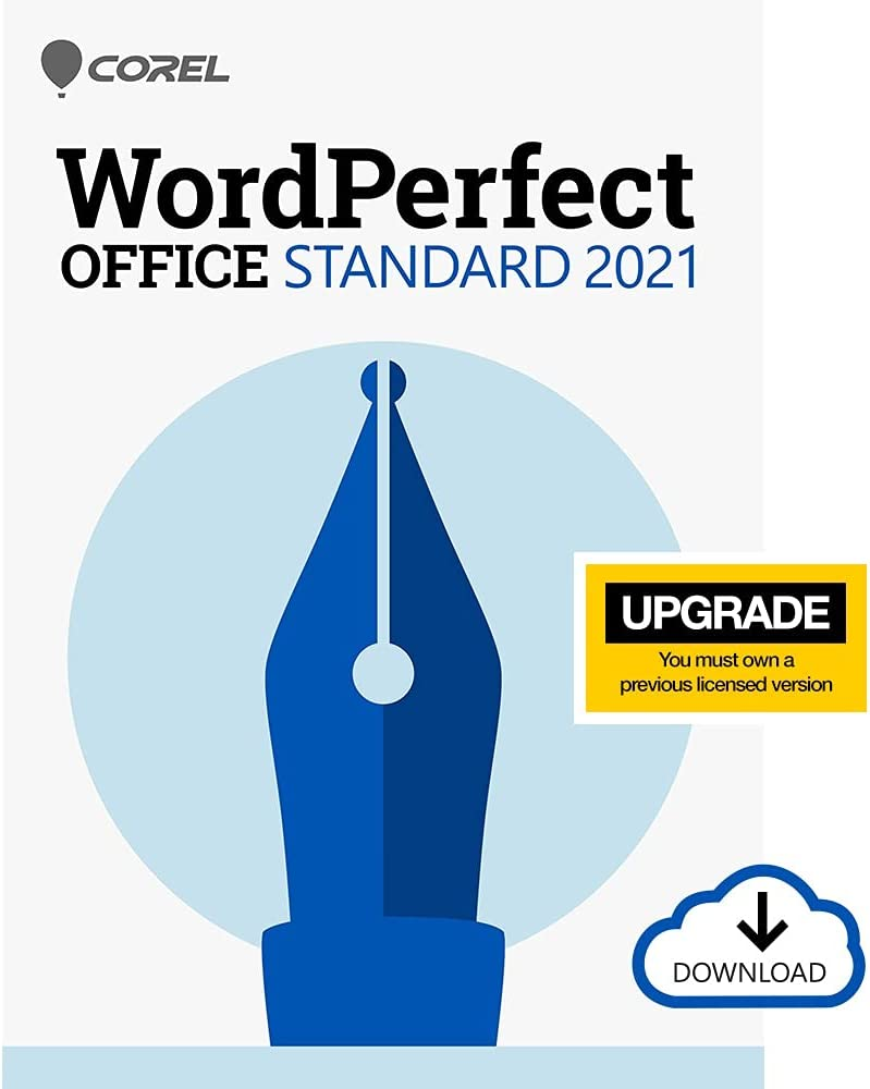 Corel WordPerfect Office Standard Upgrade 2021   Office Suite of Word Processor, Spreadsheets & Presentation Software [PC Download]