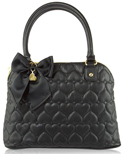 Betsey Johnson Mine and Yours Quilted Dome Satchel Bag