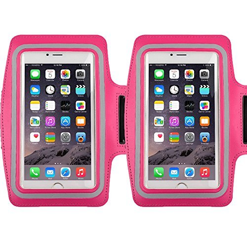 Racer Sport Gym Armband CaseHigh Shop with Scratch-Resistant Dual Arm-Size Slots and Key Holder for Cellphones Under 5.8 Inch iPod MP3 Player? (Samsung Galaxy Mega 2 Headphones)