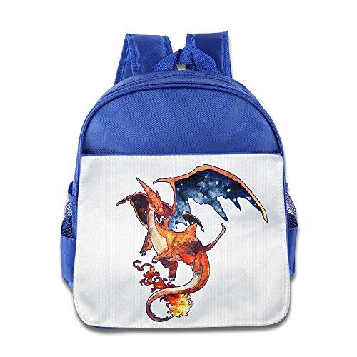 MoMo Unisex Charizard Mega Boy Girl Backpacks Bags For Little Kids -