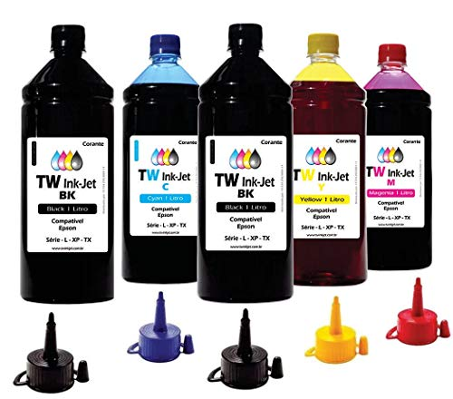5 Litros de Tinta P/Epson EcoTank L455 L475 L555 TW Ink-Jet