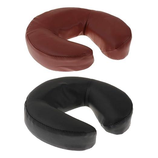 2 Unidades Almohada de Forma de U Cojín de Cuero PU para ...