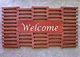 Welcome Mat 36x18 Wooden Mat, Custom Lettering Available