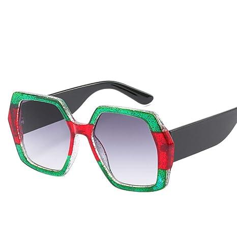 Yangjing-hl Gafas de Sol cuadradas tridimensionales de Moda ...