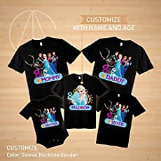 Disney Elsa Birthday Shirt Anna Tshirt Trolls Theme Party Shirts