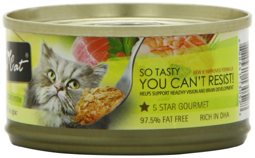 Fussie Cat Premium Tuna with Shrimp Canned Cat Food – 24 – 2.82-oz. Cans, My Pet Supplies