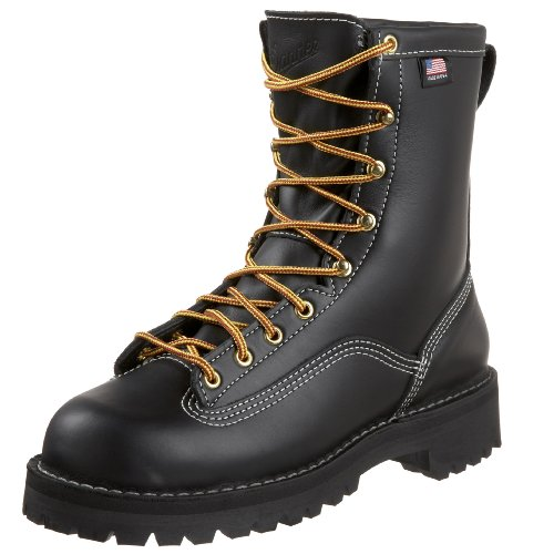 (Danner Men's Super Rain Forest Uninsulated Work Boot,Black,10 D US )