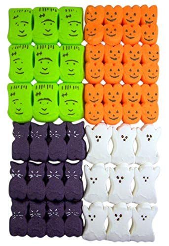 Halloween Peeps Variety Pack with Monsters, Ghosts, Pumpkins, and Spooky Cats, 3.375 oz, Pack of 4 for $<!--$100.00-->