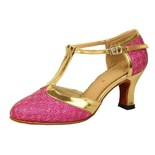 Scarpe Da Ballo Per Donna Latina Con Cinturino Alla Caviglia Con Cinturino In Pelle Scamosciata