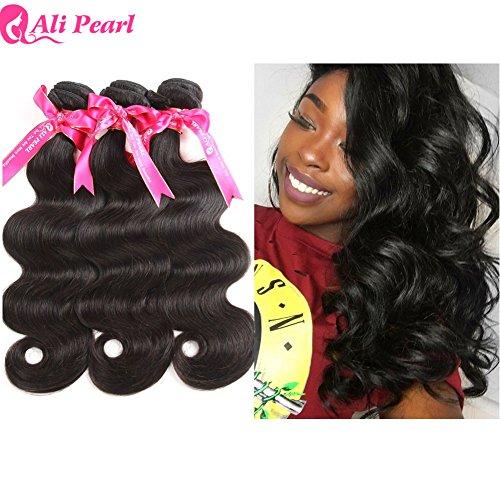 Ali Pearl Brazilian Body Wave Virgin Human Hair 3 Bundles Unprocessed Body Wave Hair 3 Bundles Hair Extentions Wholesale Hair Deal (12 12 12) (Best Malaysian Hair Vendors)