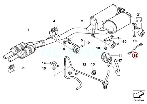 Amazon Com Bmw Genuine End Muffler Ground Strap Automotive