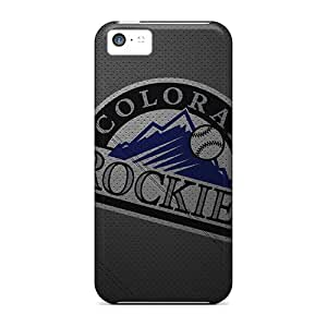 Best Cell-phone Hard Cover For Iphone 5c With Unique Design Vivid Colorado Rockies Series LauraAdamicska