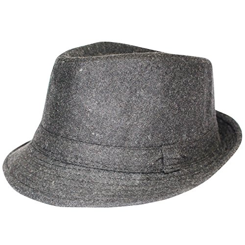 [Classic Grey Fedora Hat - Classic Fedora Hat In Grey For Stylish Look] (Gangster Hats For Sale)