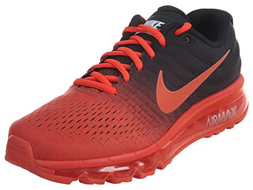 Nike Mens Air Max 2017 Running Shoes Bright Crimson Total Crimson Black 849559-600 Size 9.5