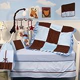 Suede Baby 14 Piece Crib Nursery Bedding Color: Sage and Brown