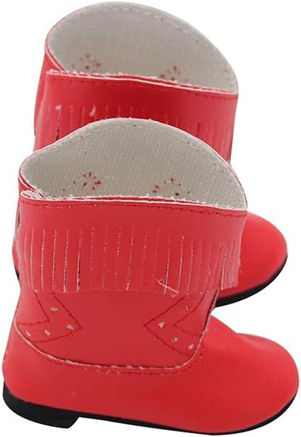 Meiyiu 3 Pares de Zapatos de 18 Pulgadas 43cm Accesorio de mu/ñeca Accesorio de Arranque de casa de Juego Color Aleatorio