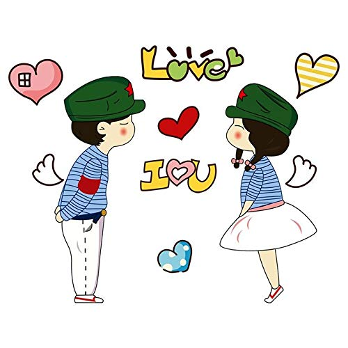 Home Decoration Wall Stickers Wall stickers love living room bedroom new room wedding room layout creative romantic love cartoon couple character stickers loveWall Sticker Decals Home DIY Decors.