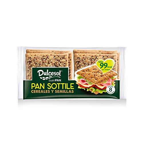 DULCESOL - Pan Sottile con cereales - 8 unidades: Amazon.es: Alimentación y bebidas
