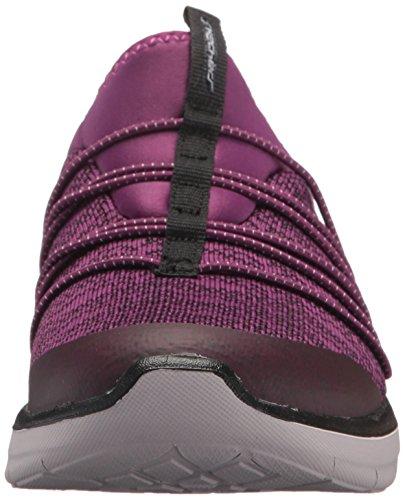 Skechers Sport Womens Synergy 2.0 Simpelweg Chic Fashion Sneaker Paars / Zwart
