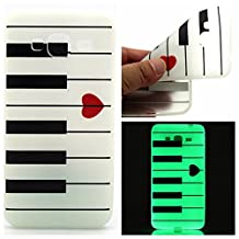 AllDo Samsung Galaxy J3 Case Soft TPU Silicone Cover Flexible Slim Phone Skin Original Design Pattern Shell Lightweight Thin Protective Case - Piano Keyboard
